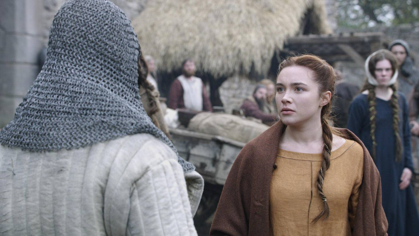 Überraschend gut: Florence Pugh als toughe Frau von Robert the Bruce, Elizabeth Burgh.