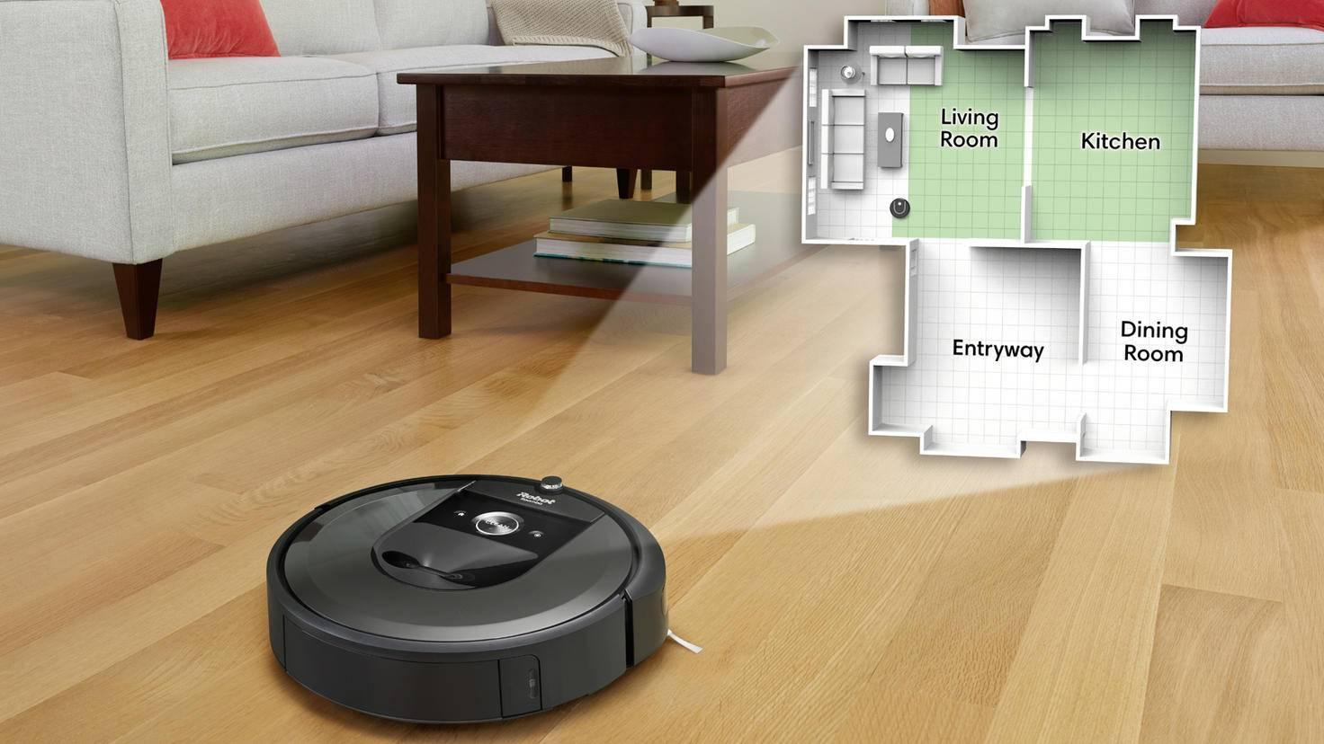 Staubsaugerroboter Roomba i7 Smart Map Funktion iRobot