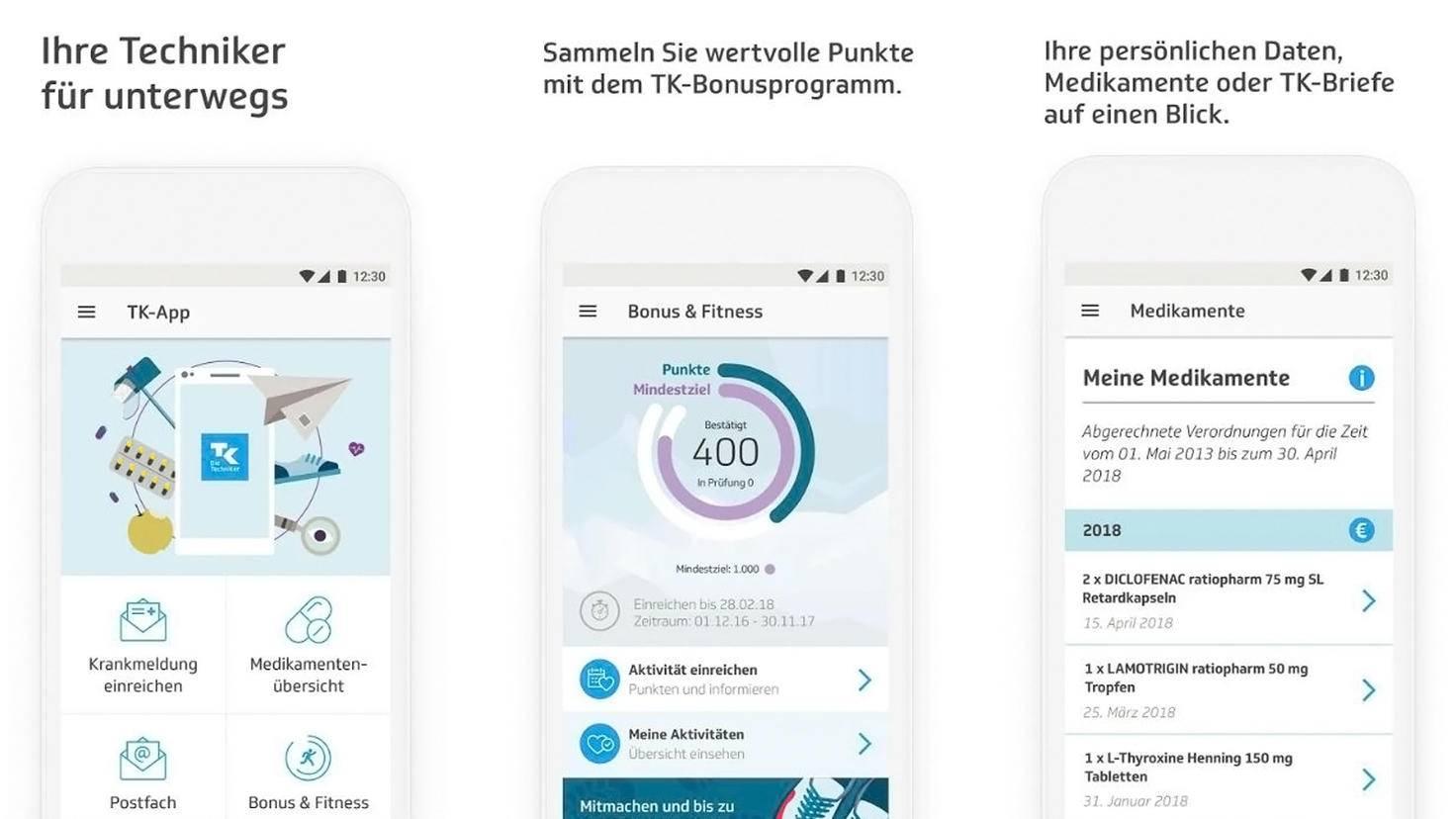 TK-Krankenkassen-App-Google Play Store-Techniker Krankenkasse