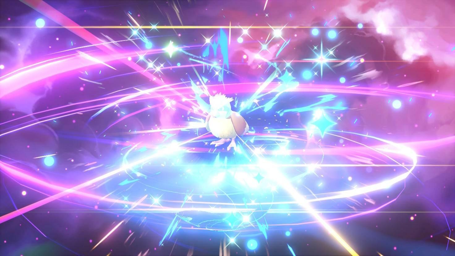 Wenn sich ein Pokémon weiterentwickelt, wird das mit einem Effekte-Feuerwerk gefeiert.