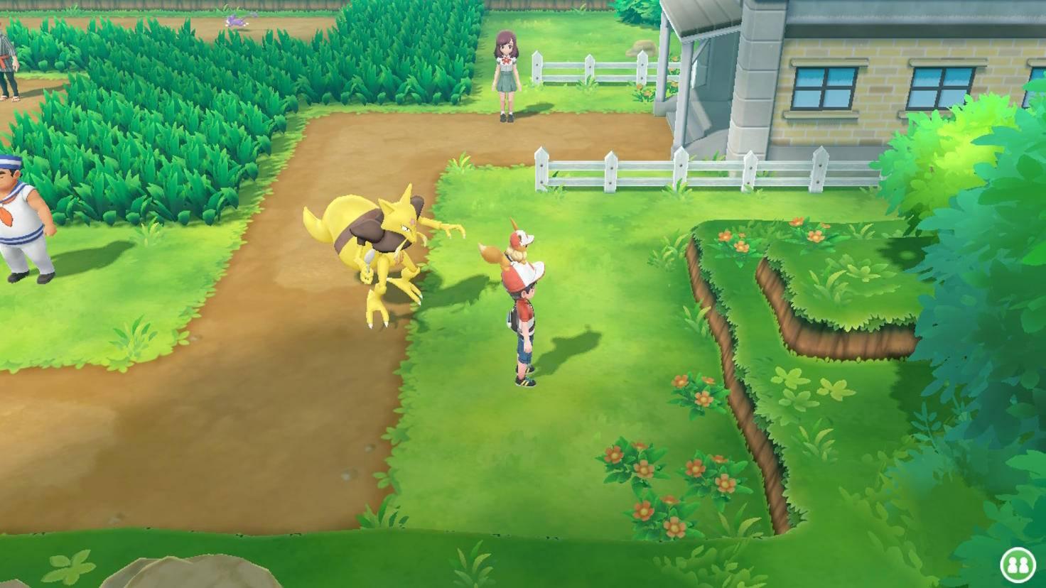 Das Partner-Pokémon sitzt ständig auf Deinem Kopf. Jedes andere Pokémon im Tema kannst Du nun aber auch hinter Dir her laufen lassen – und ab einer bestimmten Größe sogar darauf reiten.