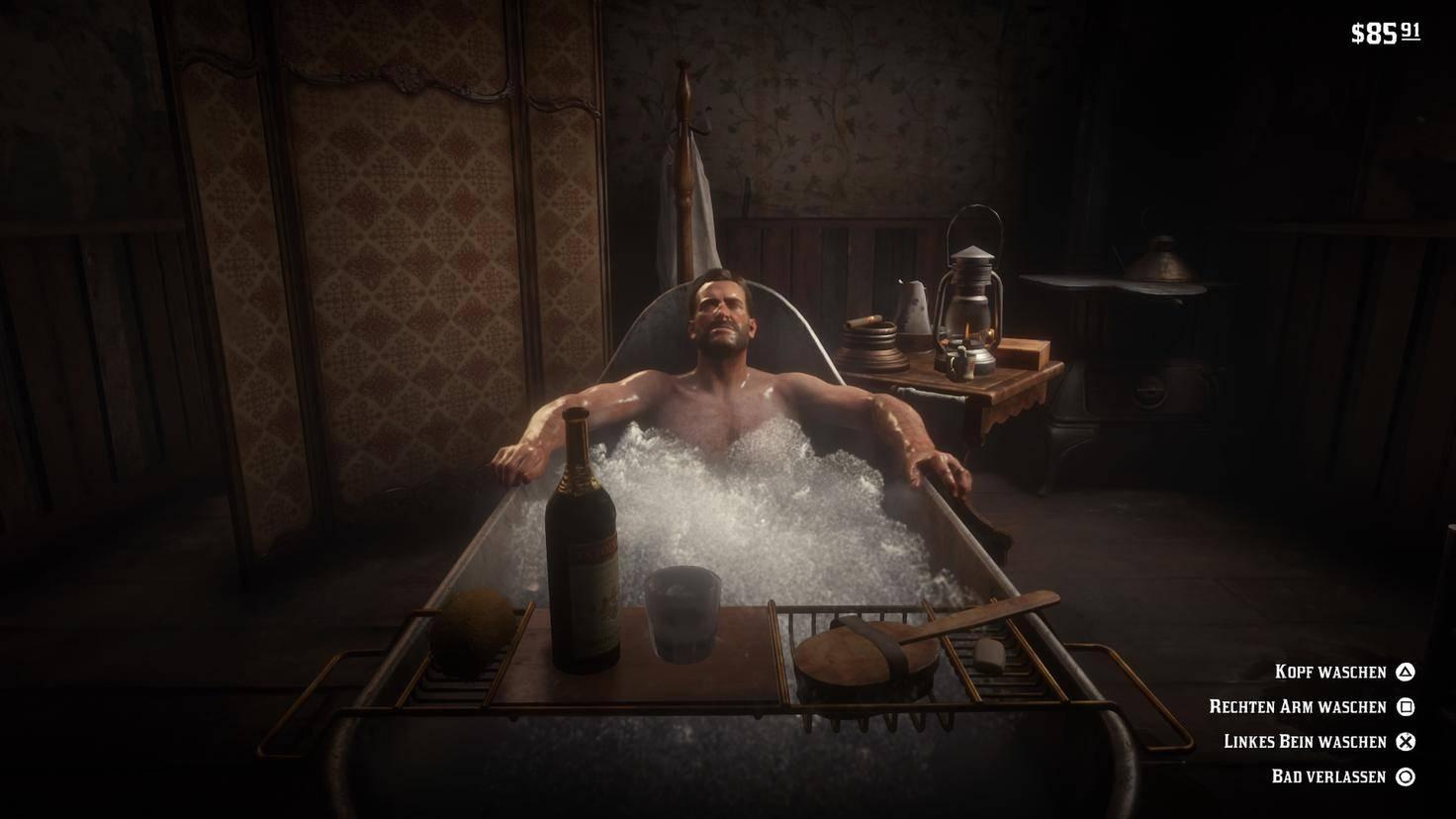 Jep, auch ein Bad gehört zum Pflichtprogramm.