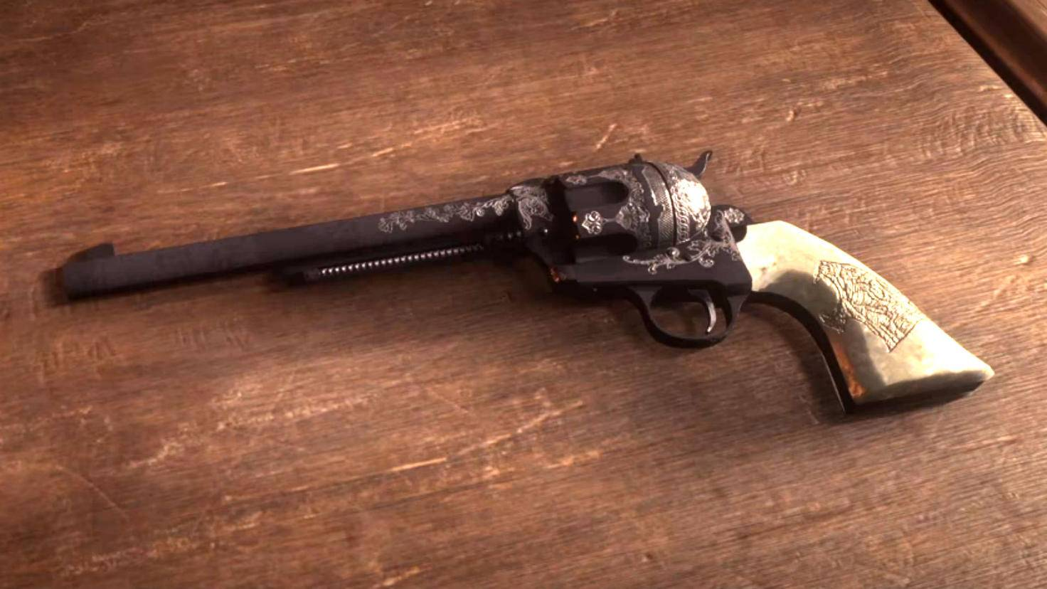 Der Schofield-Revolver ist die wertvollste Beute im Hinterzimmer beim Arzt in Valentine.