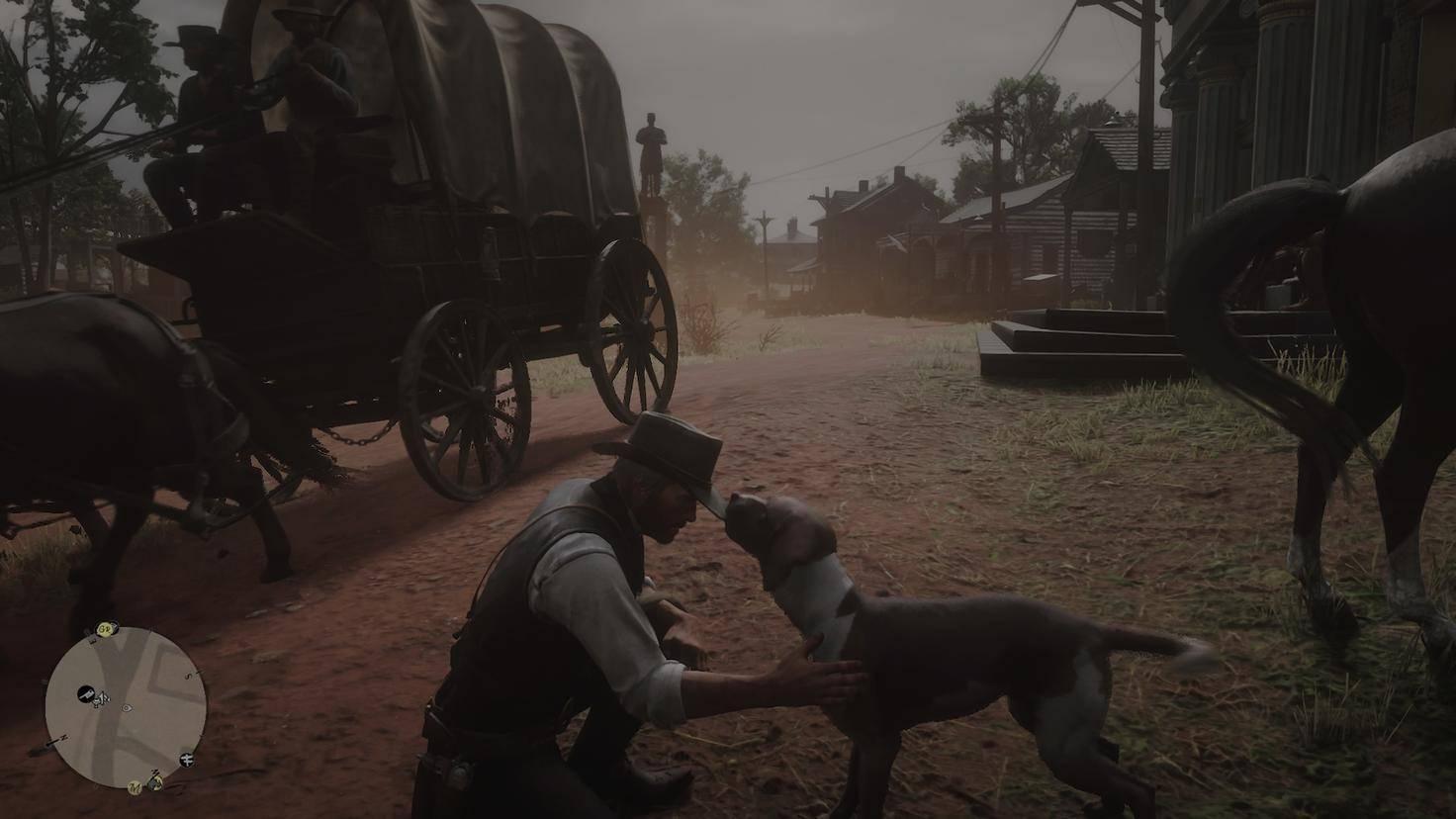 Du kannst natürlich auch freundlich mit Tieren agieren.