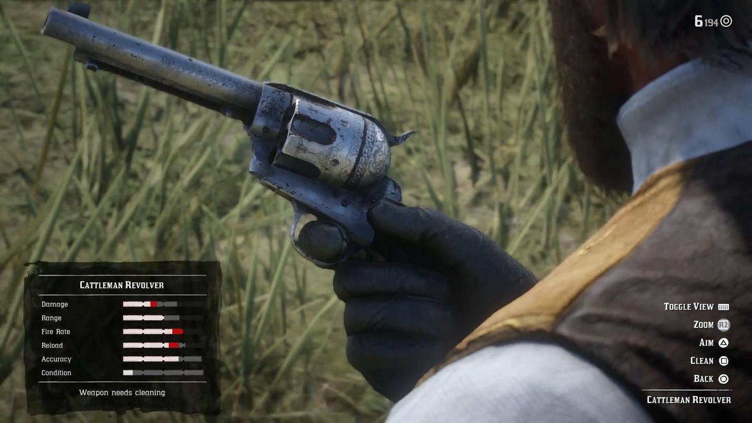 Dieser verdreckte Revolver benötigt unbedingt eine Reinigung.