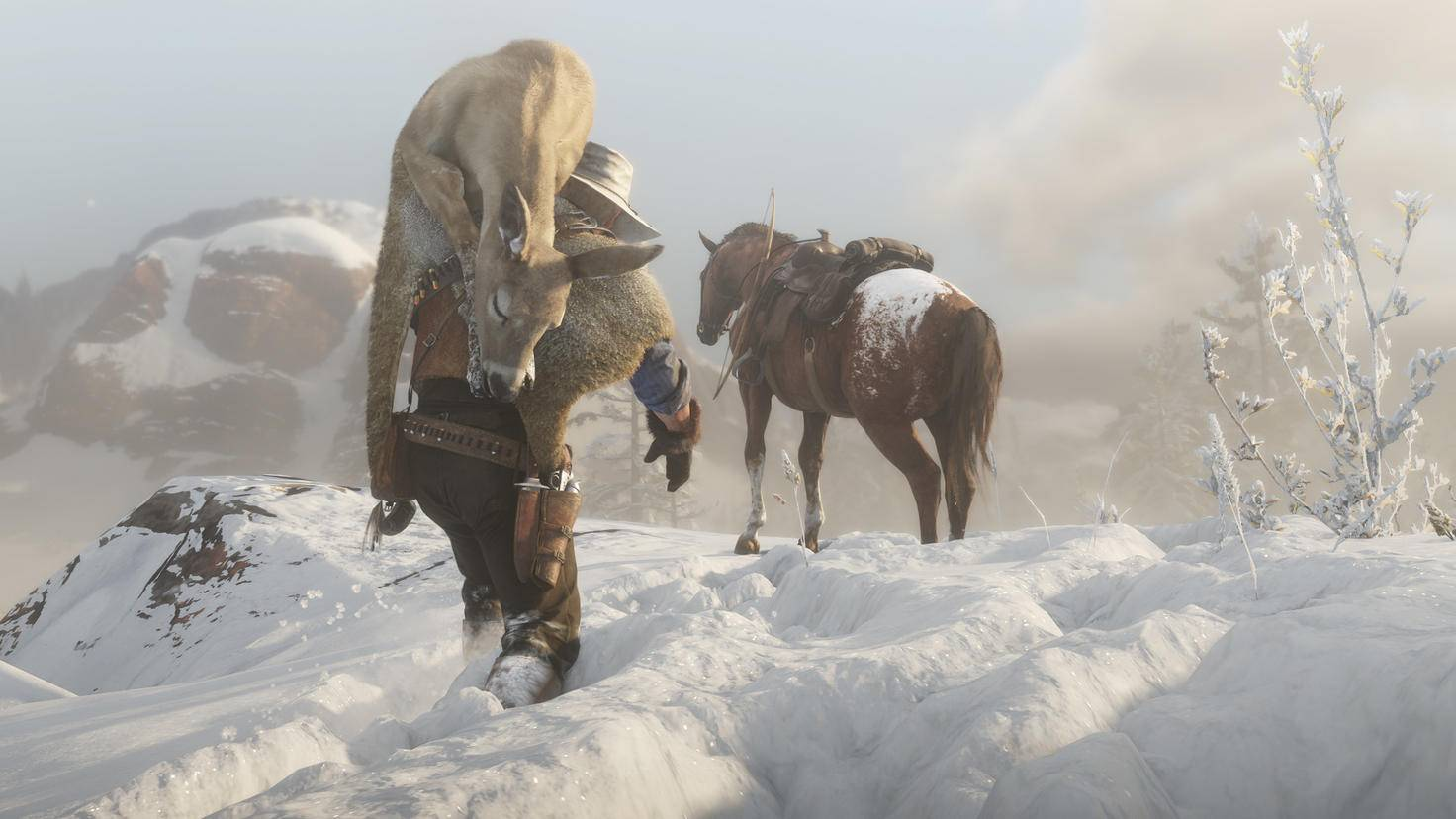 """Beim Jagen verdeutlicht Dir """"Red Dead Redemption 2"""", wie hart das Leben noch vor 100 Jahren war."""