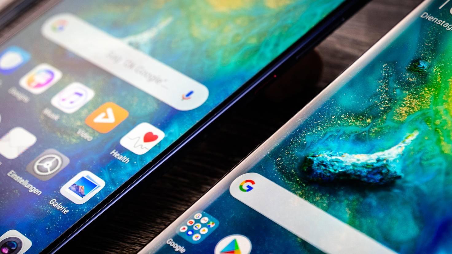 Huawei versteht es, die Ränder um die Bildschirme möglichst dünn zu halten.