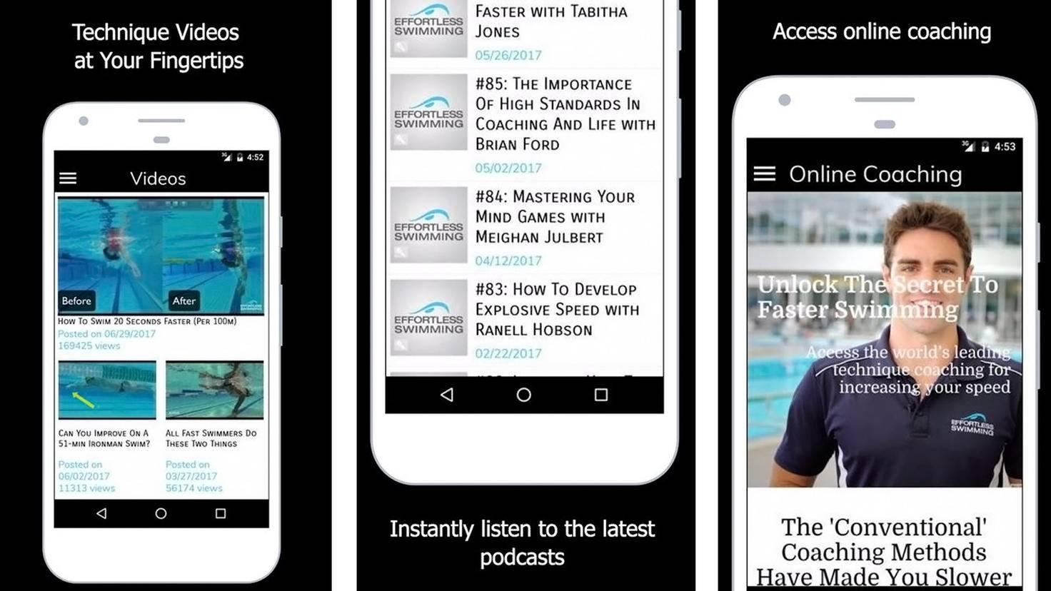 Effortless Swimming-App-Google Play Store-Effortless Swimming