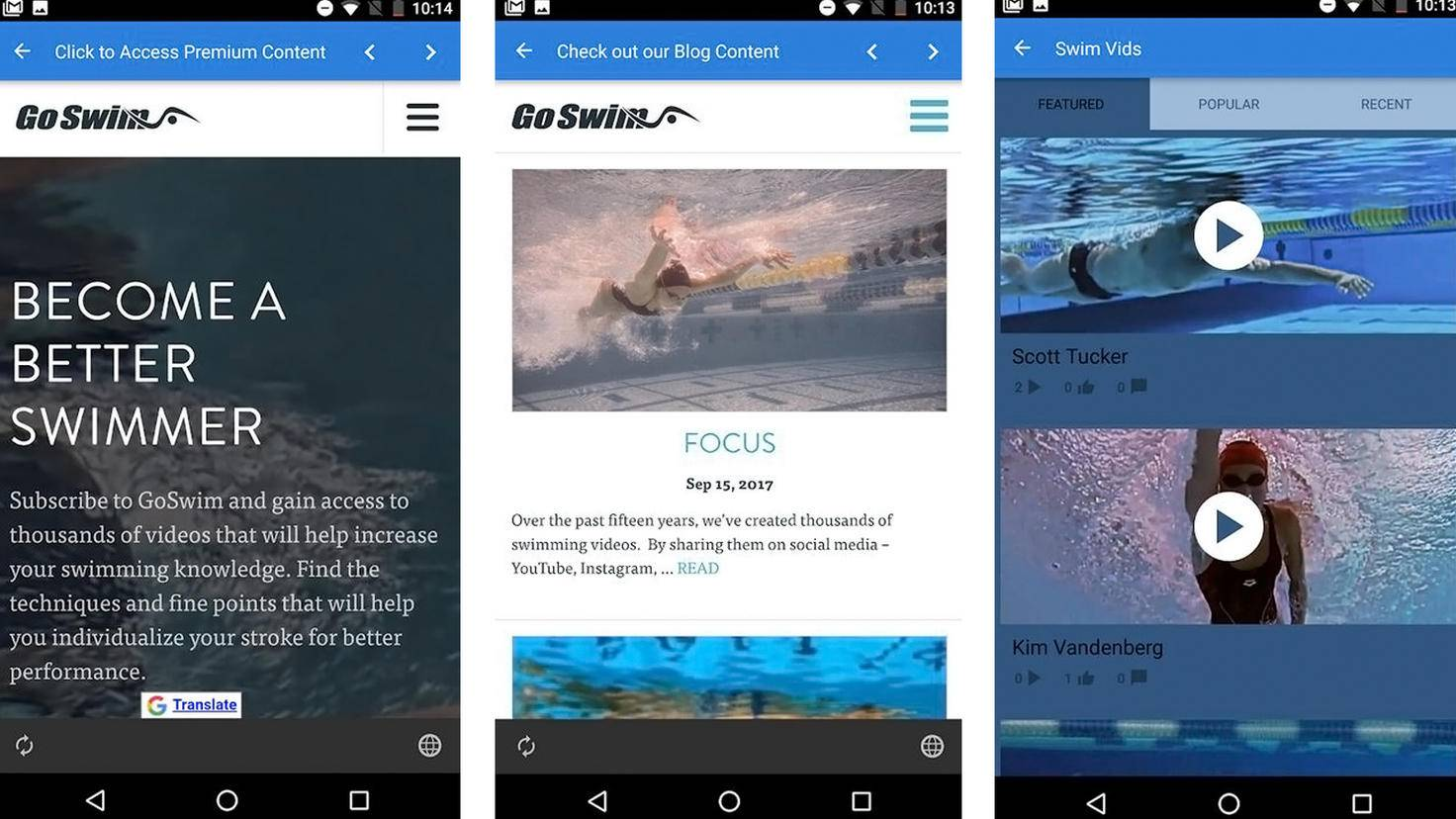 GoSwim Lite-App-Google Play Store-Go Swim Productions