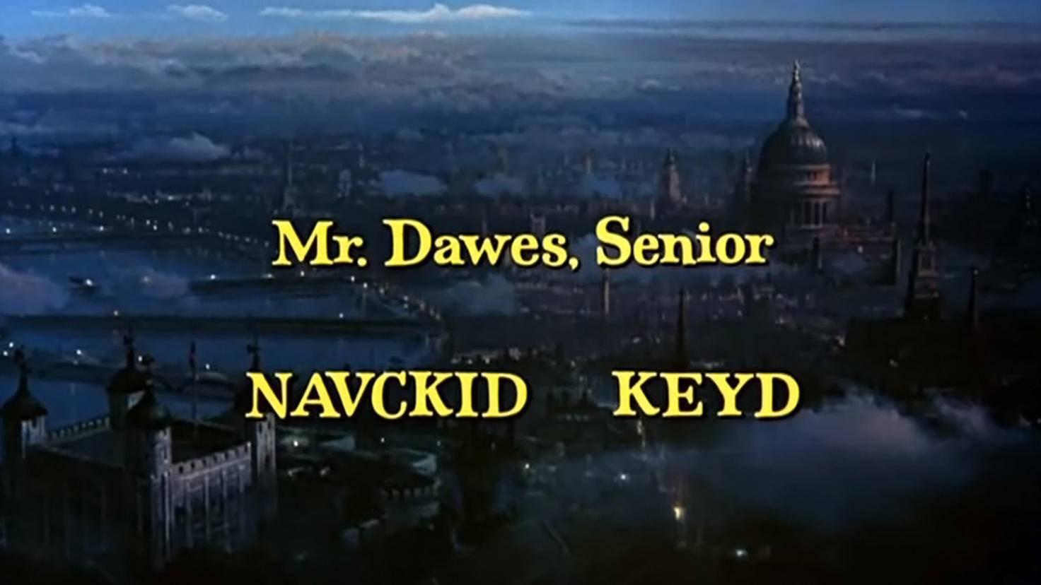 Mary Poppins-Credits-Dick Van Dyke-Youtube-Jalen Moran