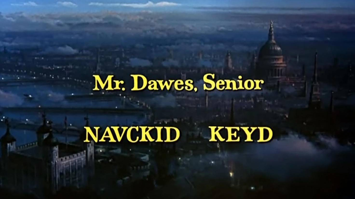 Mary Poppins-Credits-Dick Van Dyke-Youtube-Jalen Moran
