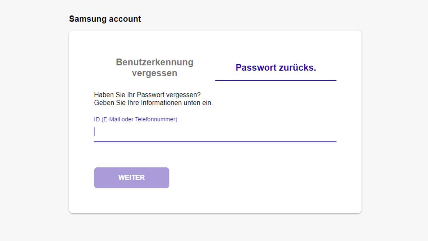 Samsung-Konto-Passwort-zurücksetzen