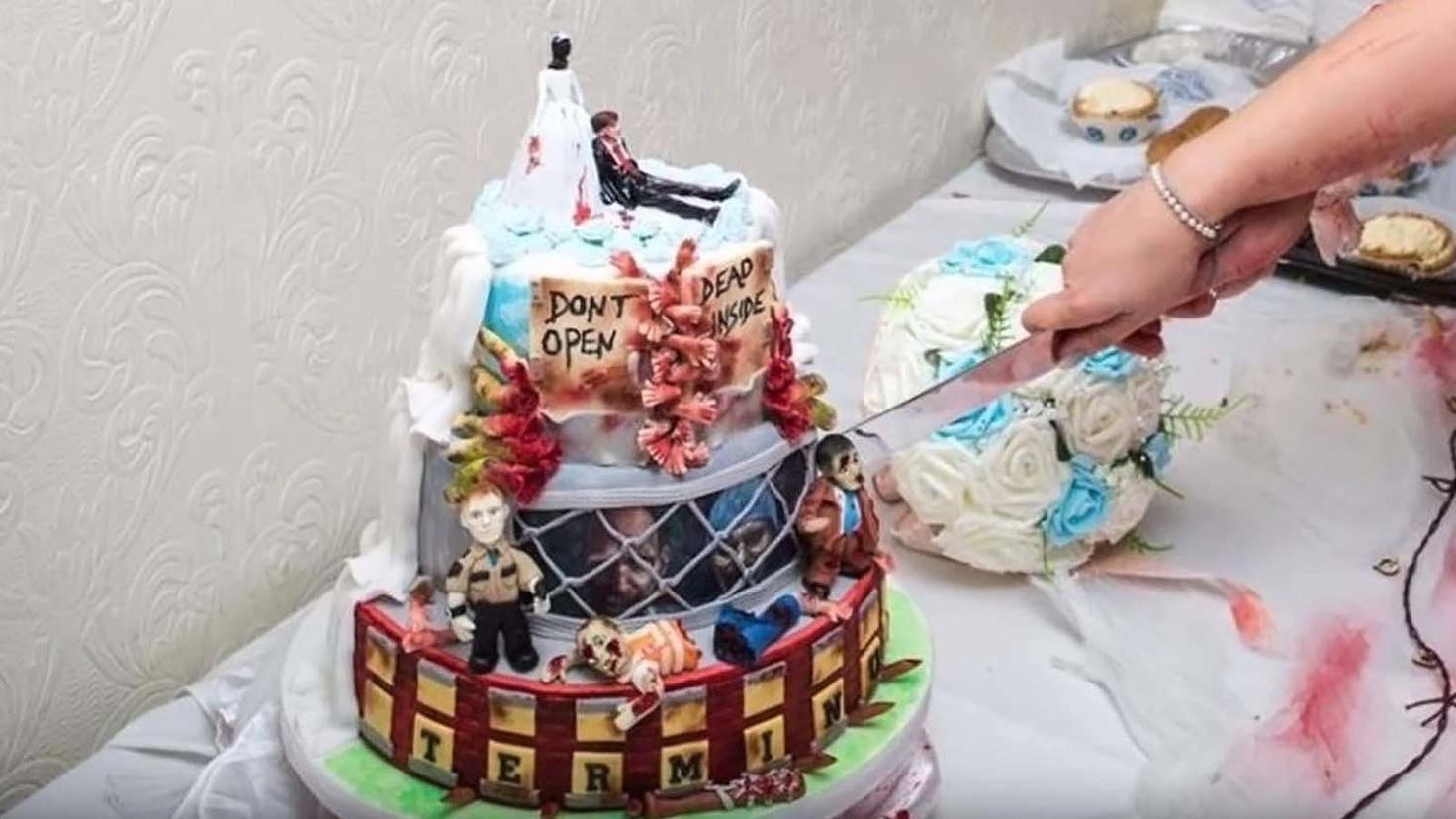 The Walking Dead Hochzeit Kuchen-Youtube-Cookie and The Haydens
