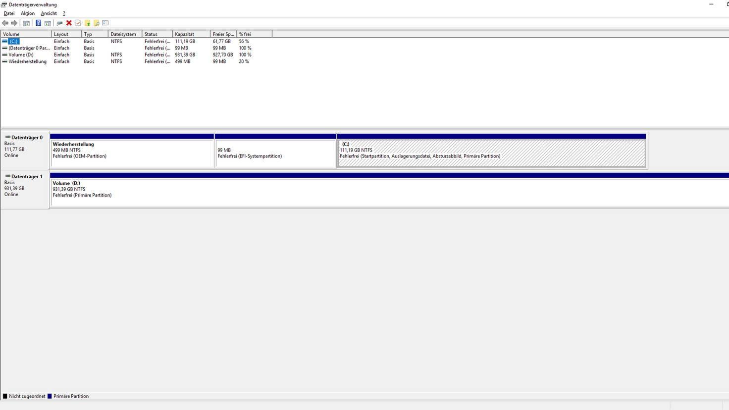 Windows-10-Datenträgerverwaltung