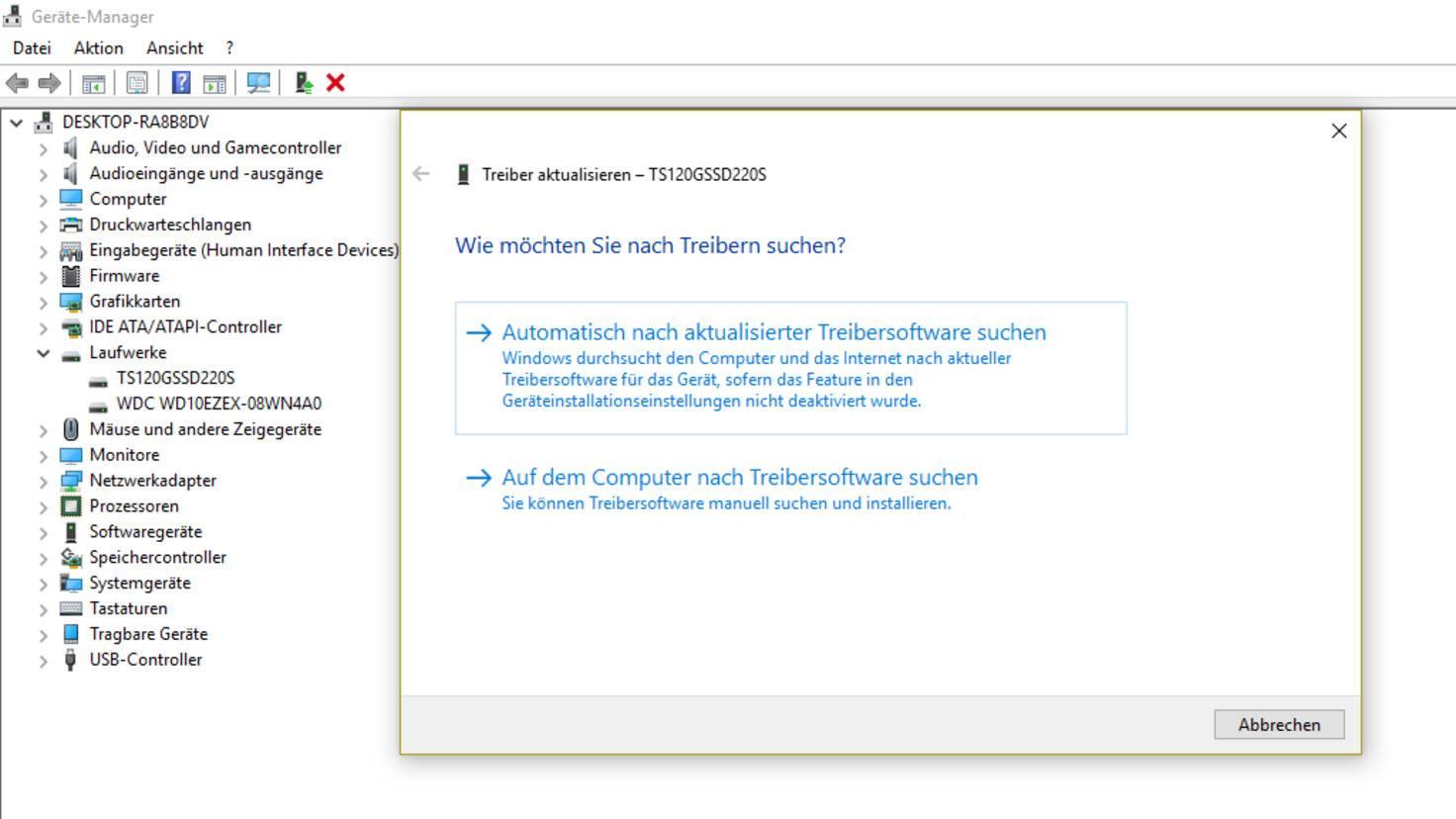 Windows-10-Treiber-Festplatte