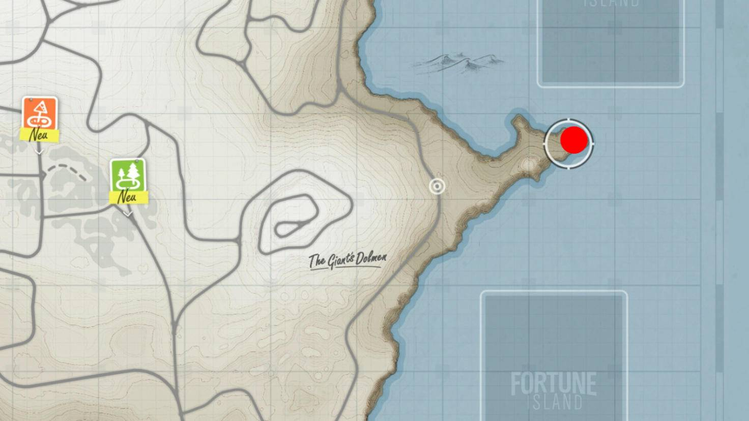 """Schatzsuche """"Insel-Eroberer"""": Fundort der sechsten Schatztruhe."""