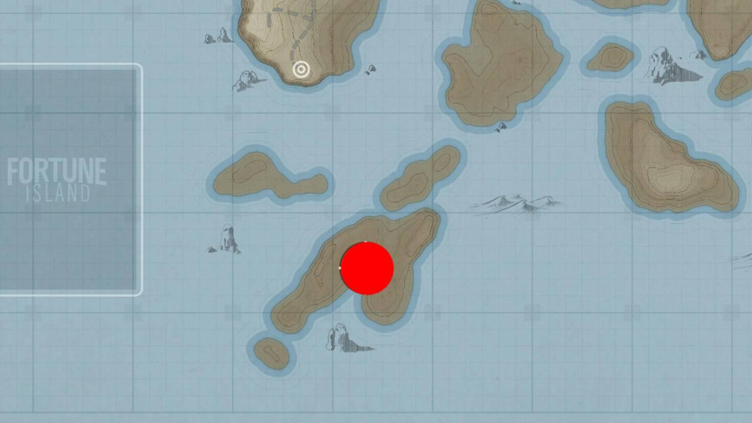 """Schatzsuche """"Insel-Eroberer"""": Fundort der neunten Schatztruhe."""