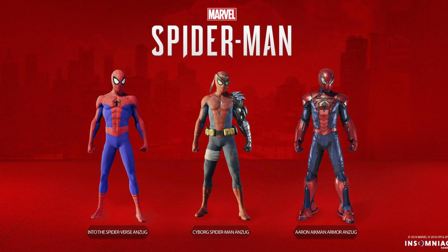 """Was Schickes für die Spinne: Der """"Silver Lining""""-DLC bringt drei neue Kostüme mit."""