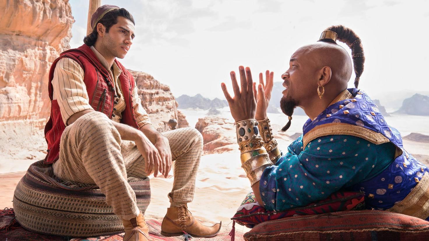 Aladdin und der Dschinni hängen ab.