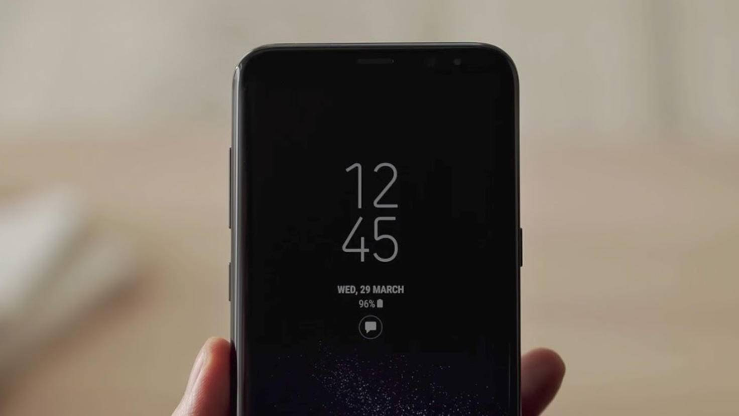 Always-on-Display Galaxy S8