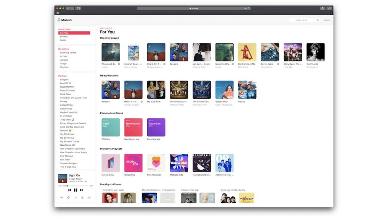 Apple Music Web Musish