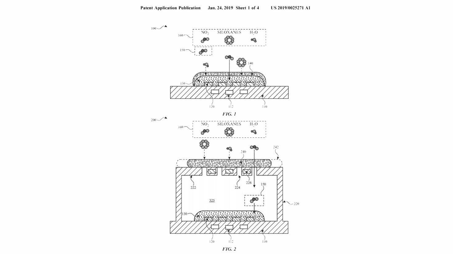 Apple Patent Gas Sensor Apple Watch-Apple-United States Patent and Trademark Office