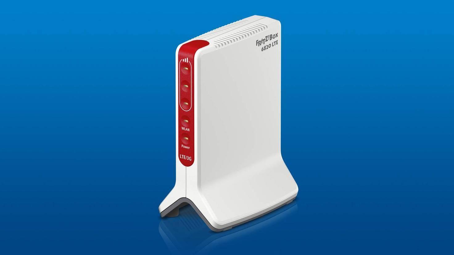 Die Fritzbox 6820 LTE ist als reiner LTE-Router leider deutlich schwächer ausgestattet als ihr großer Bruder.