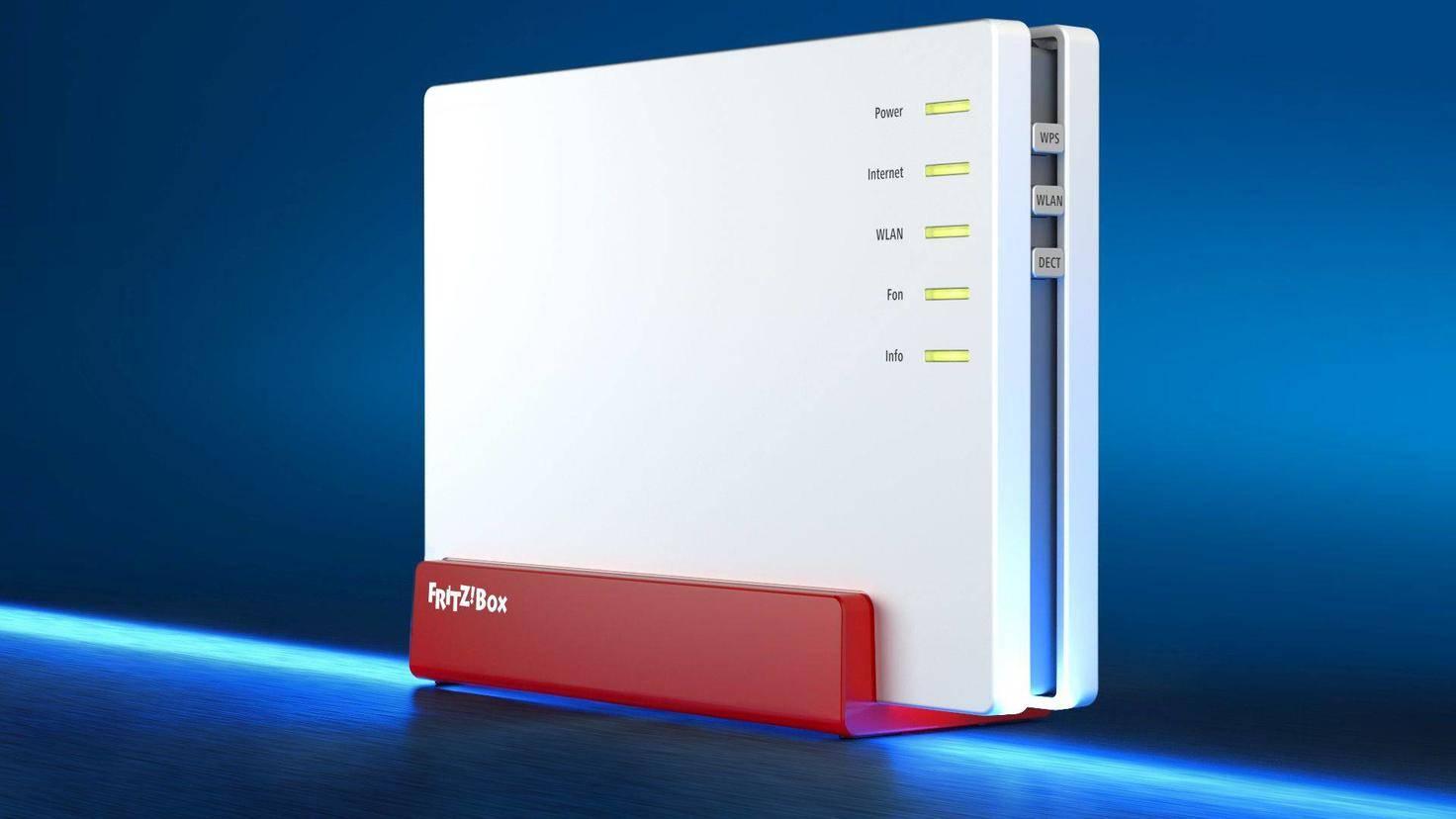 Ebenso schnelles WLAN aber maximal VDSL bis zu 100 Mbit/s unterstützt die Fritzbox 7580.