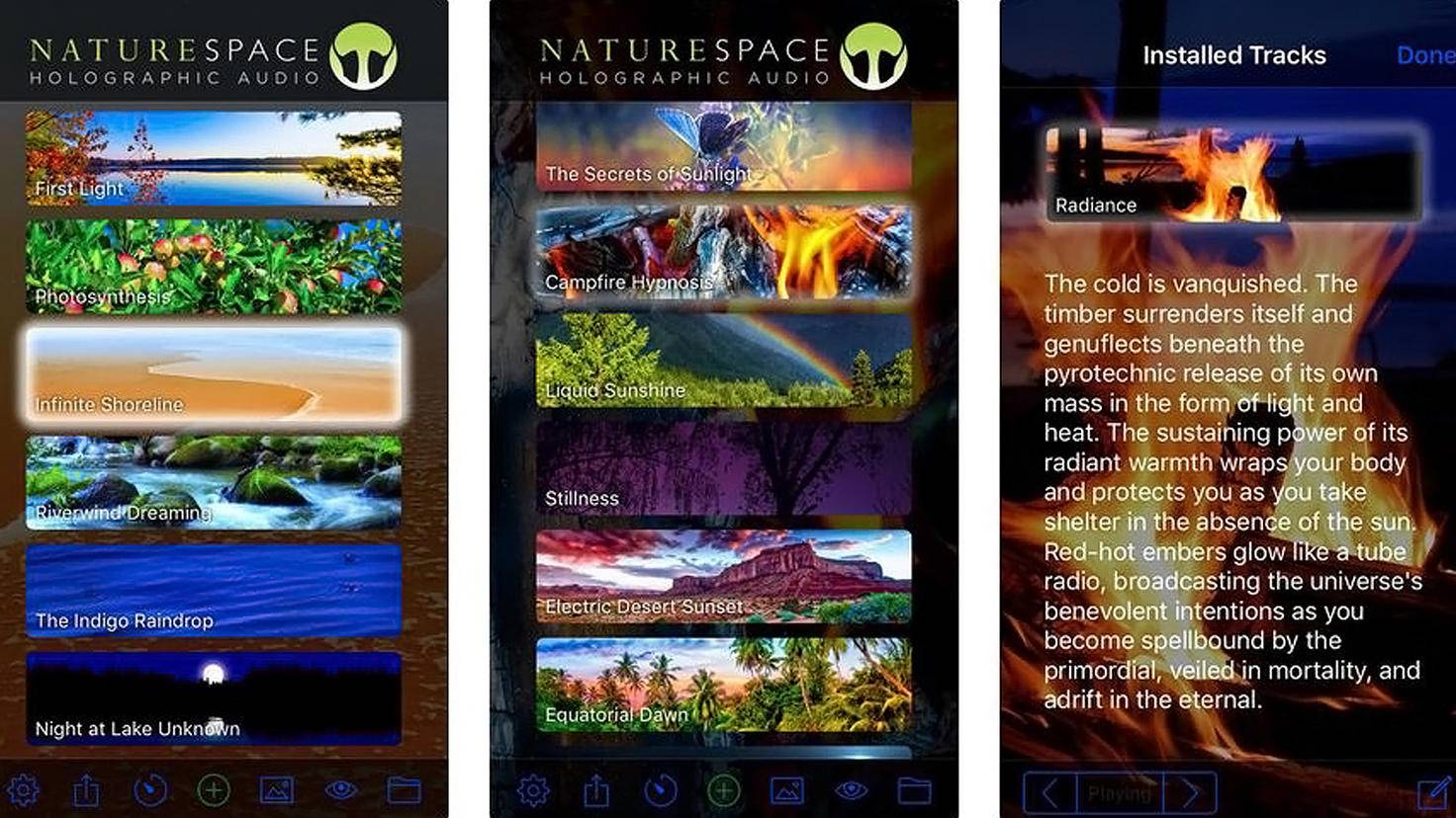 Naturespace Relax Sleep Dream-App-iTunes-Holographic Audio Theater