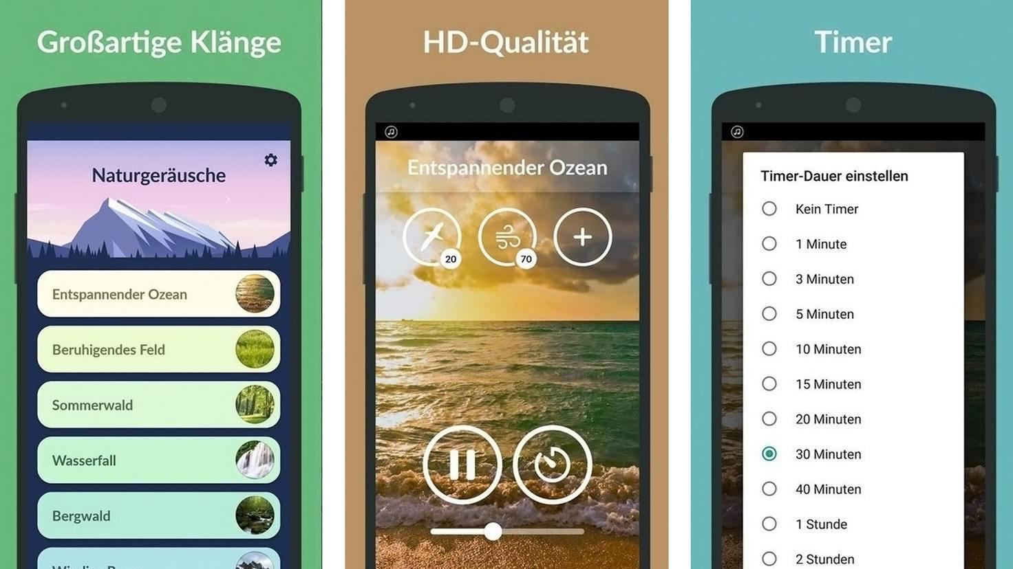 Naturgeräusche-App-Google PlayStore-Relaxio