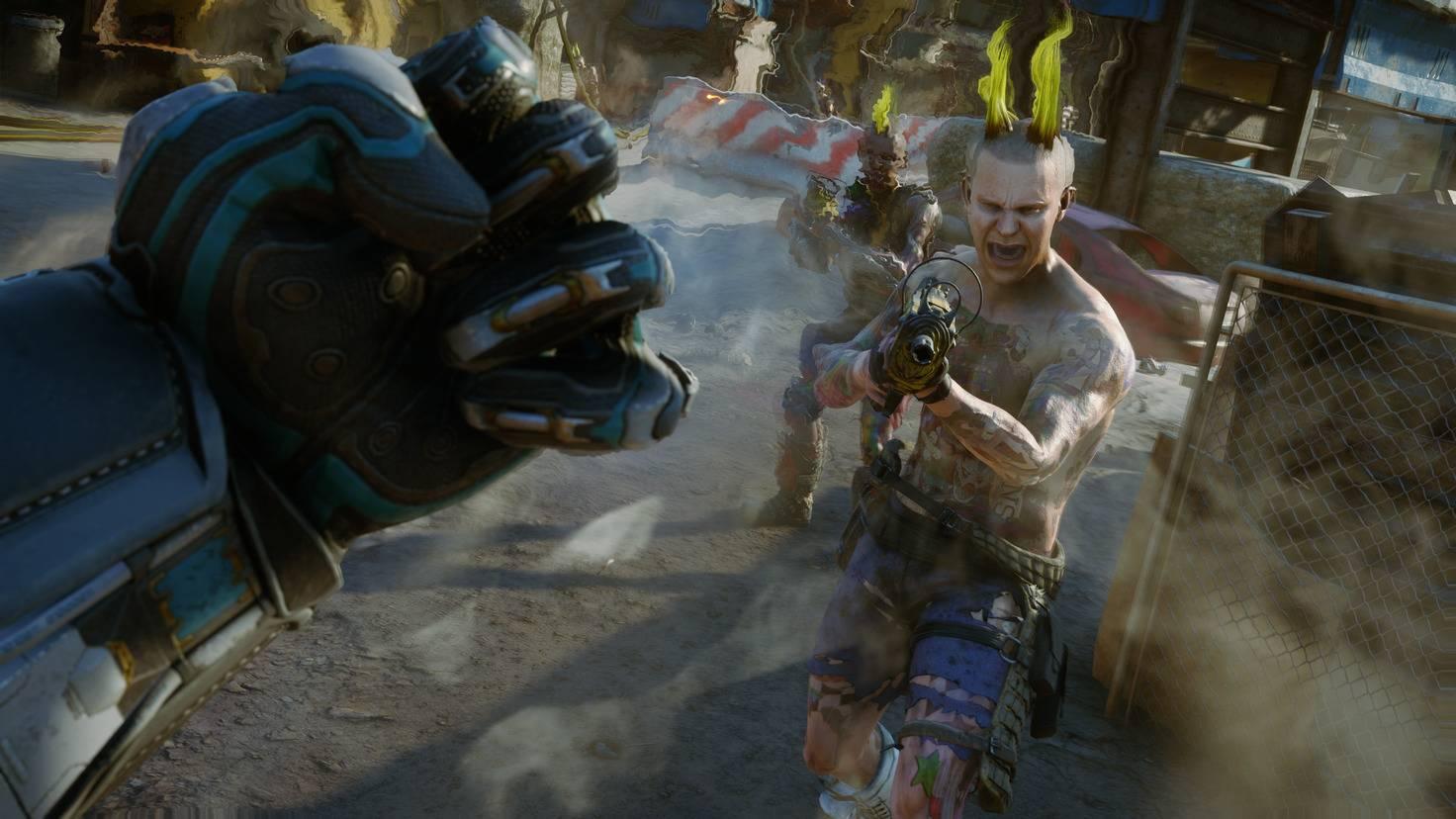 """Schrottwumme und keinerlei Rüstung – die """"Rage 2""""-Gegner hängen nicht besonders am Leben."""