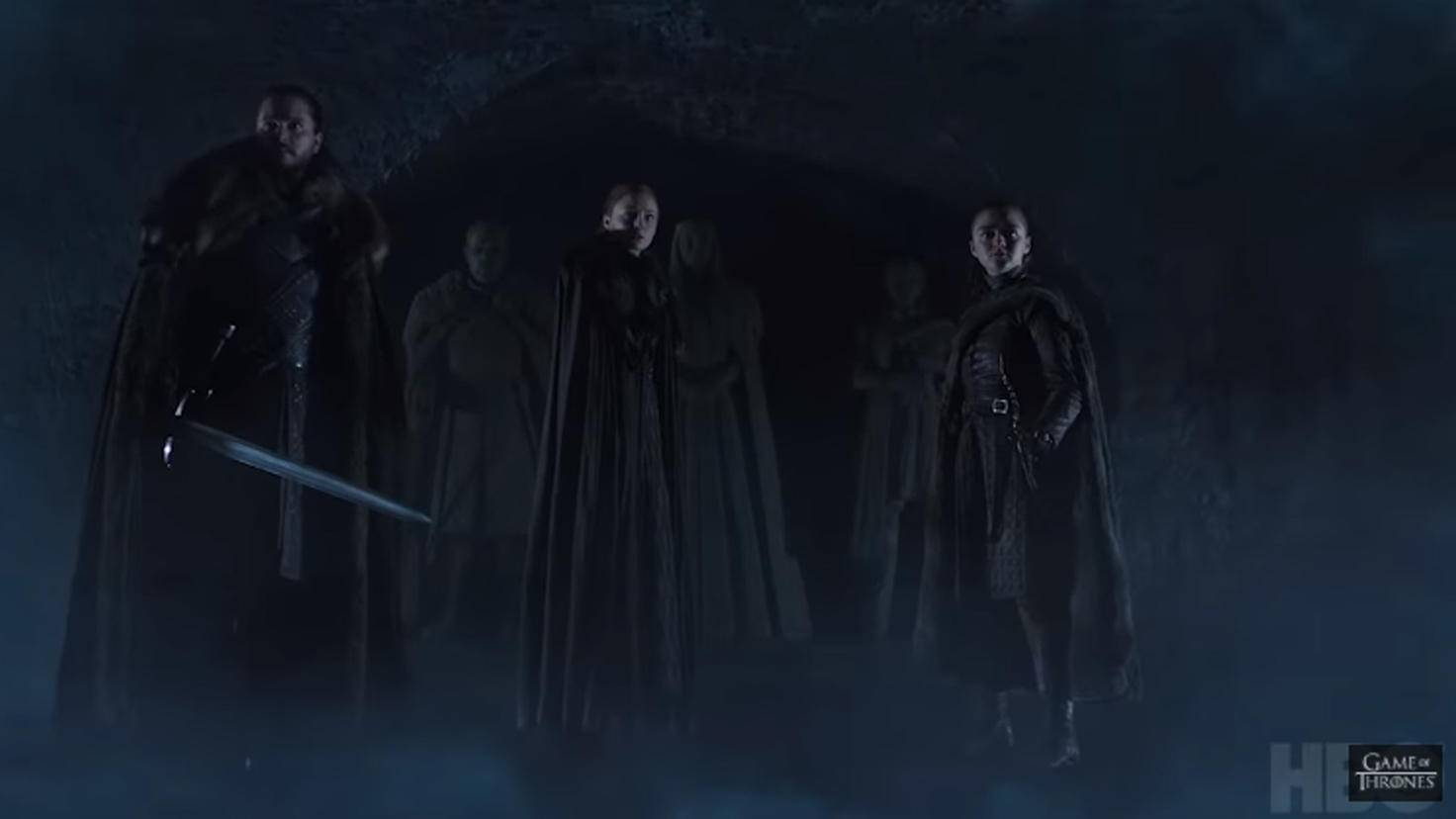 Jon, Sansa und Arya bereiten sich auf ein frostiges Treffen vor.