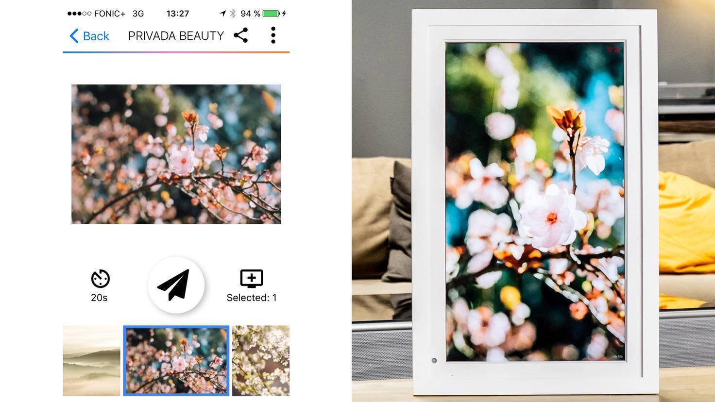 Testbild-Querformat Foto auf hochformat Framen-TURN ON