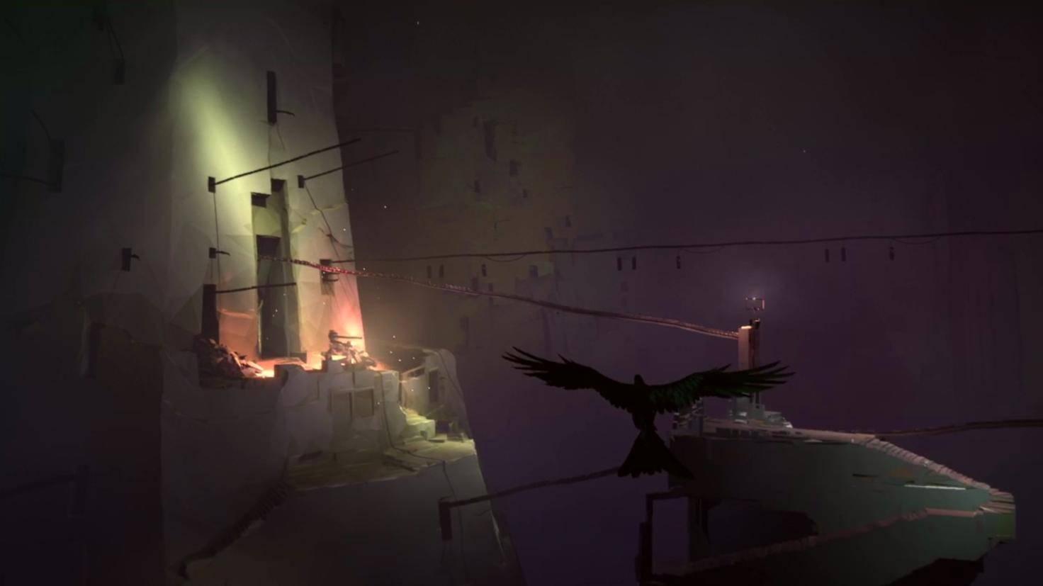 Der Spieler ist als Vogel und als Kind unterwegs.