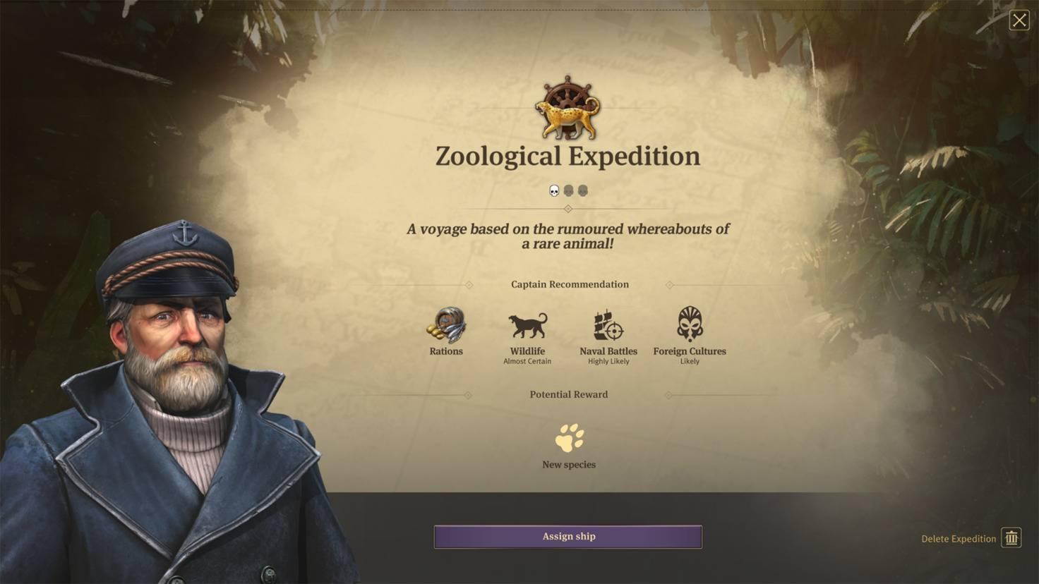Durch zoologische Expeditionen lässt sich der Zoo um neue Tierarten bereichern.