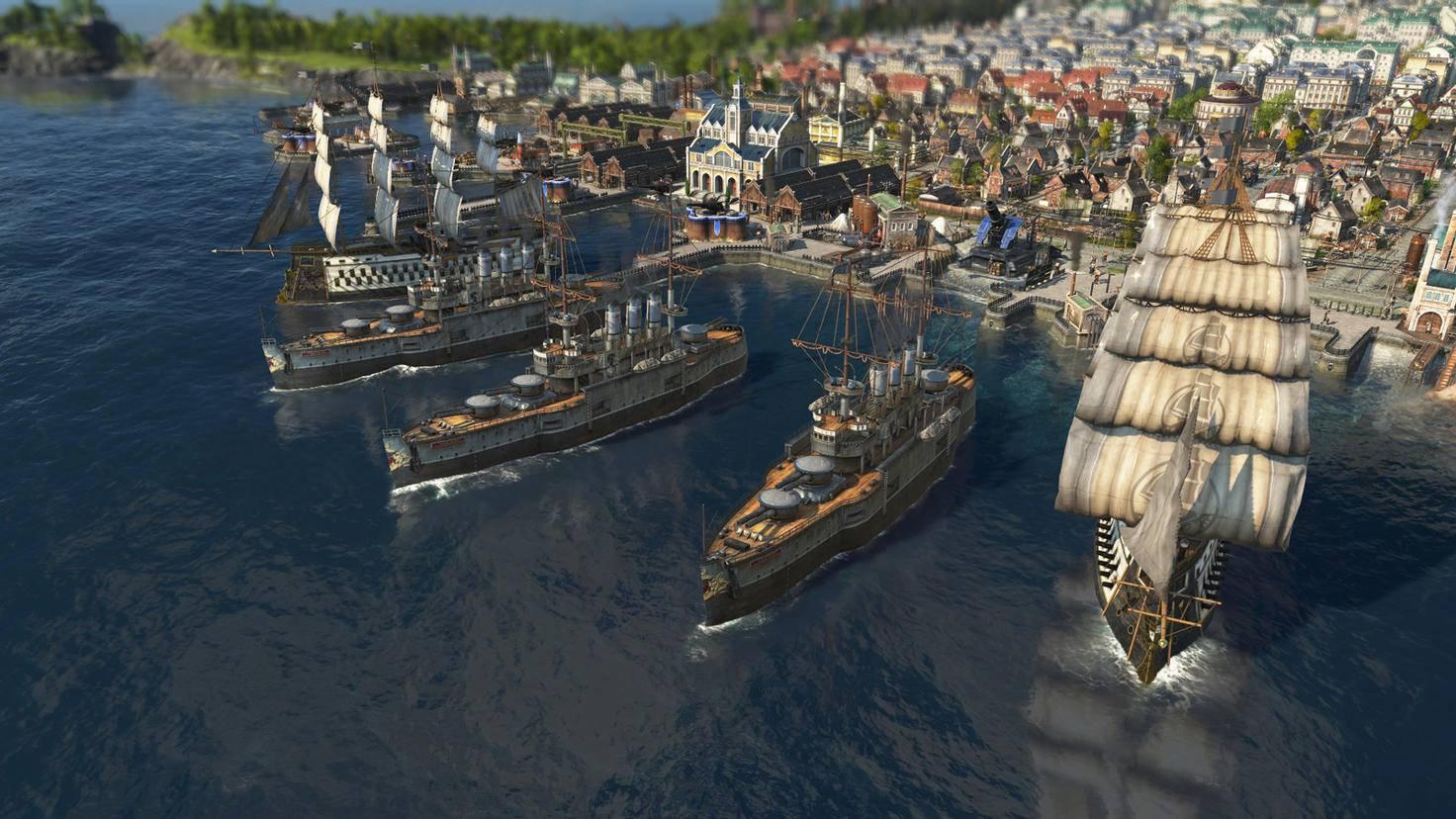 """Schnell rauf aufs Boot: In """"Anno 1800"""" kannst Du Deine Arbeiter zu anderen Inseln schicken."""