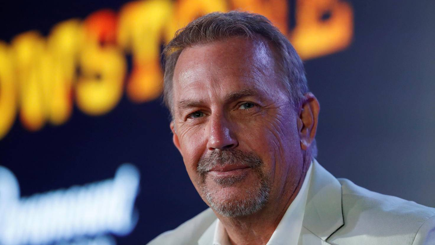 Actor Kevin Costner attends a conference at the Cannes Lions International Festival of Creativity, in Cannes