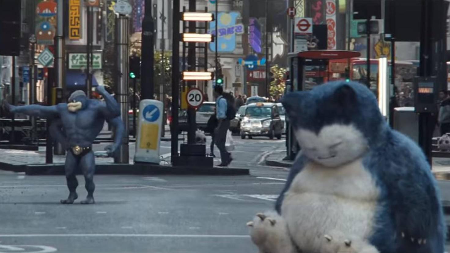 Relaxo und Machomei in Pokémon Meisterdetektiv Pikachu