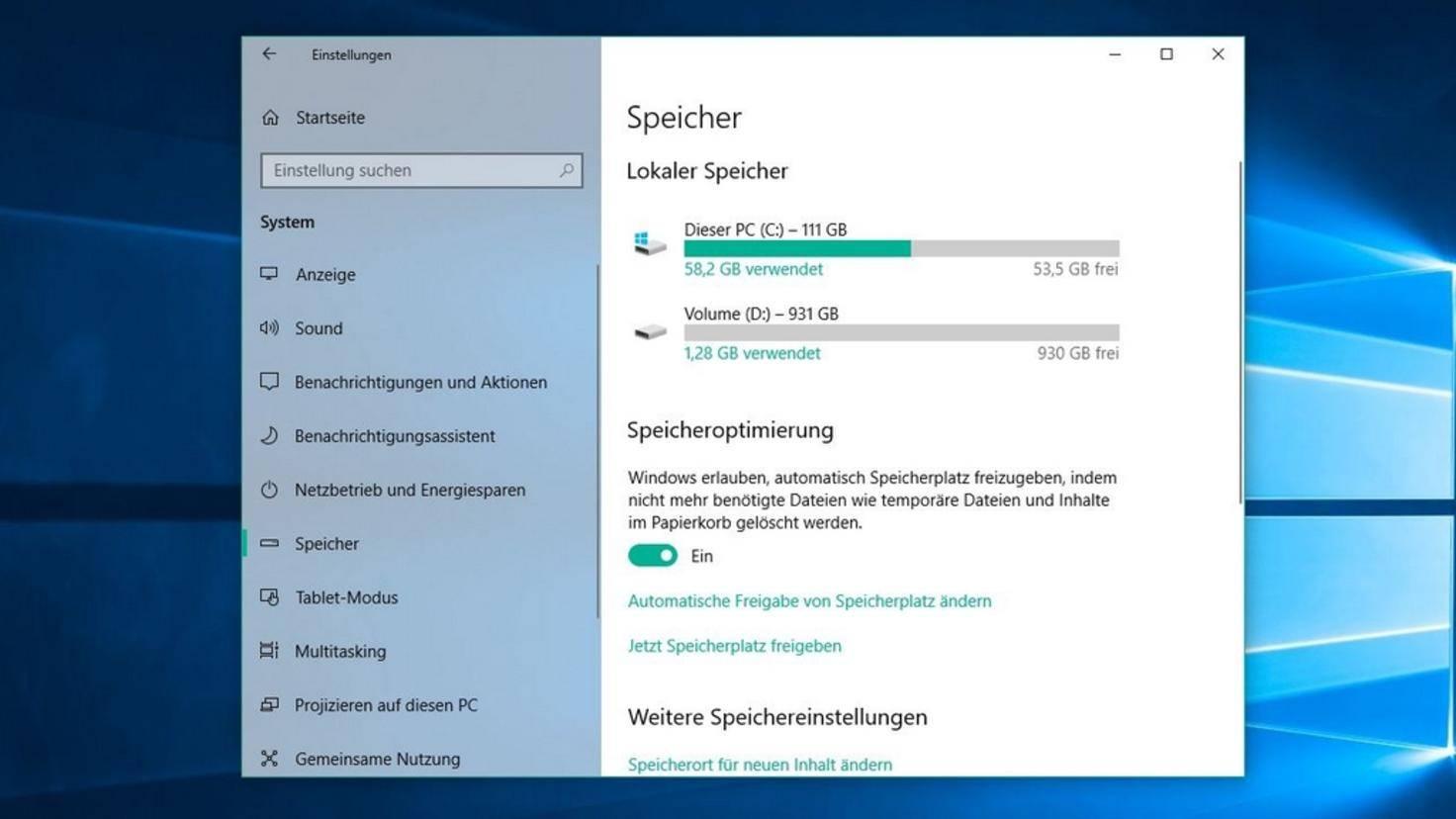 Speicheroptimierung-Windows-10