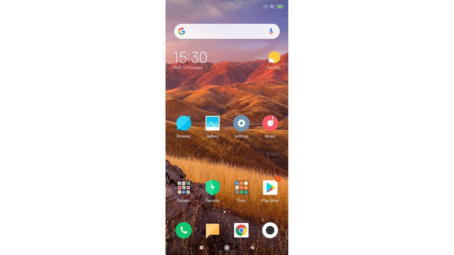 Xiaomi-Mi-8-TURN-ON-Screenshot-Homescreen