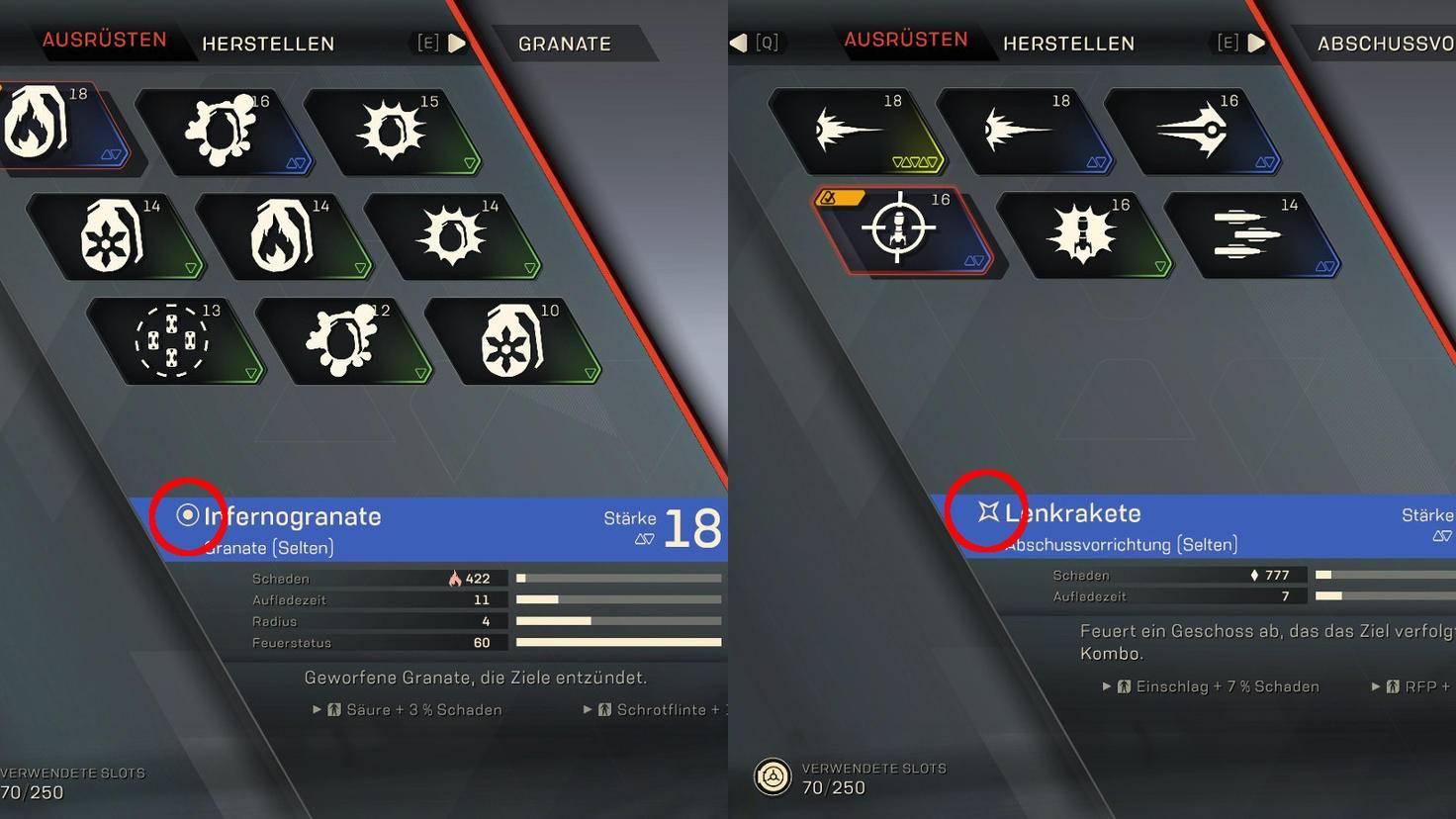 Symbolkunde: Primer (links) und Detonator (rechts).
