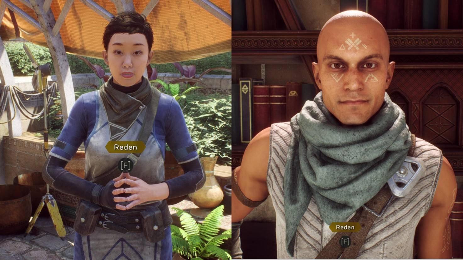 Nebencharaktere wie Sentinel Brin (links) und der Arkanist Matthias sind echte Highlights.