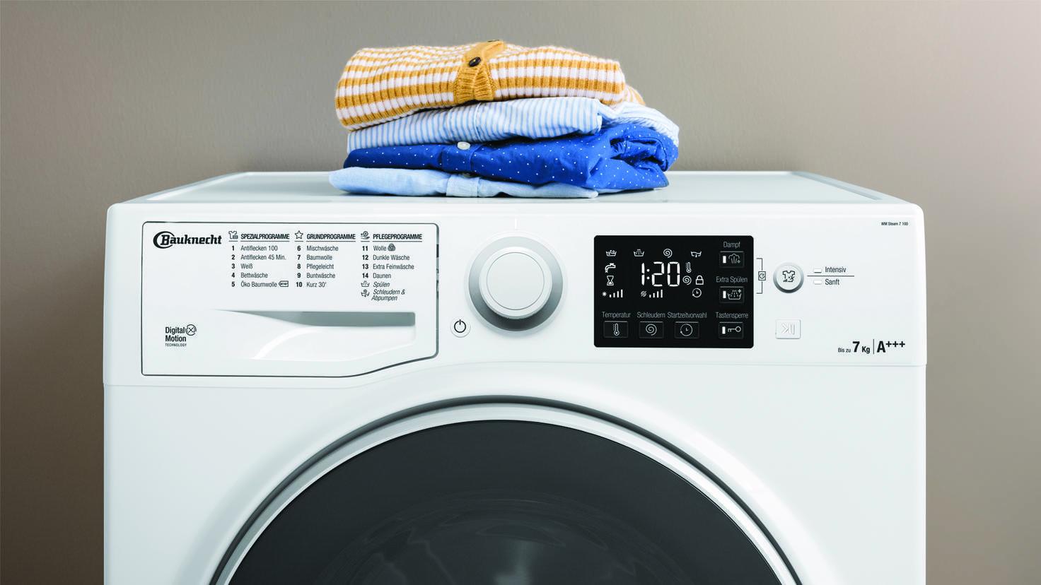 bauknecht activ ecare steam waschmaschine
