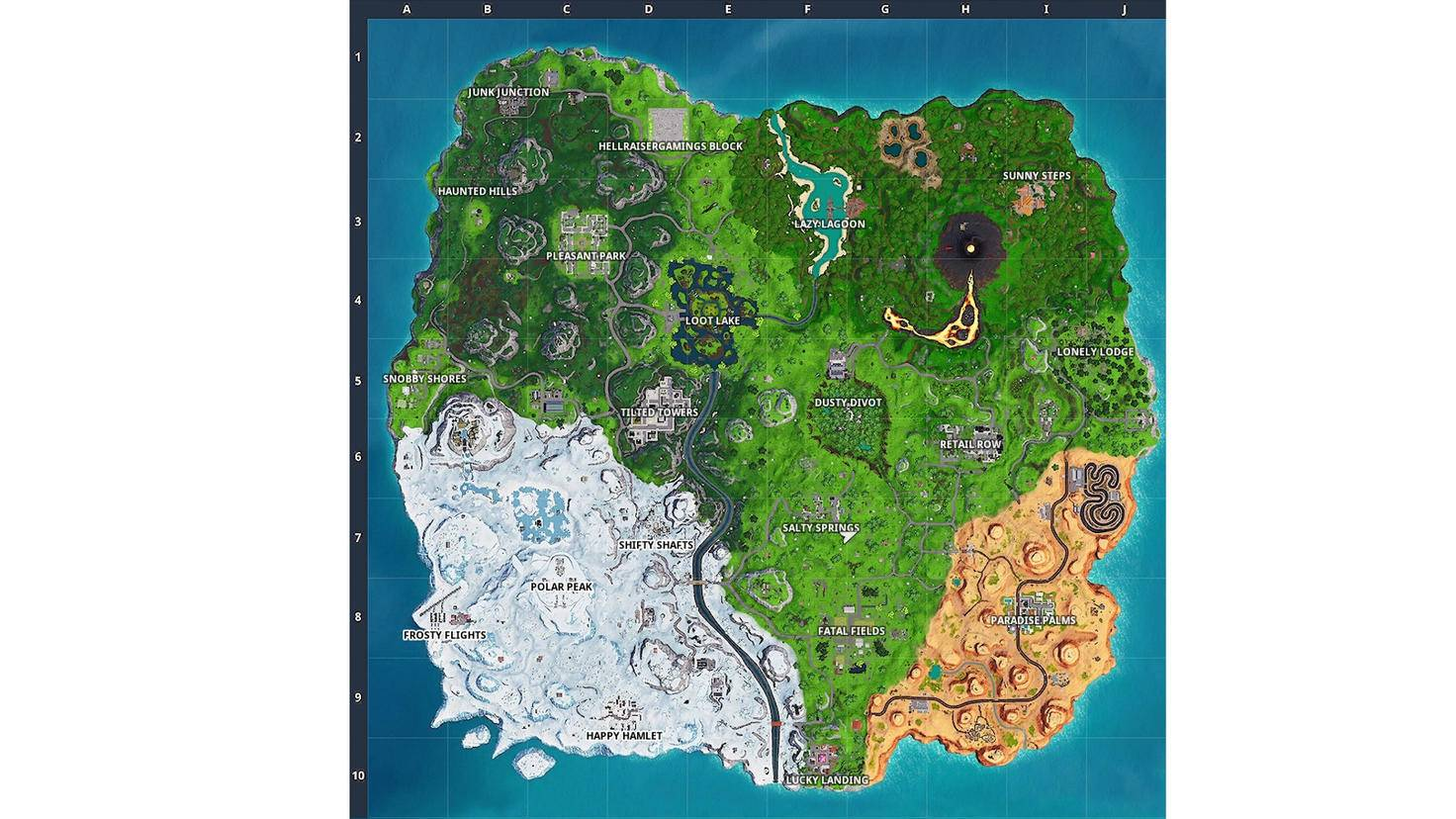 "So sieht die ""Fortnite""-Map in Season 8 aus."