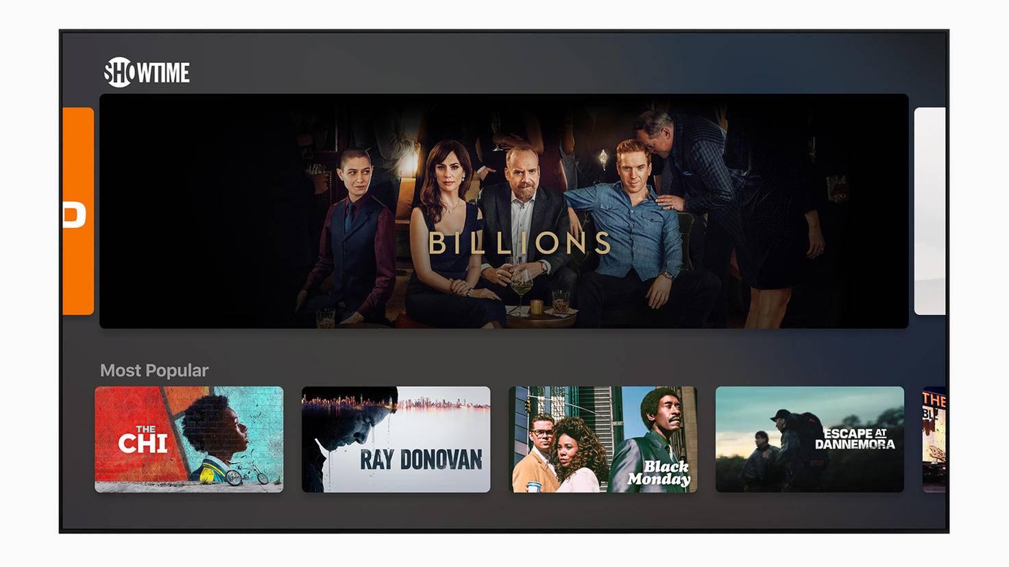 Über die neuen TV Channels können auch individuelle Sender abonniert werden.