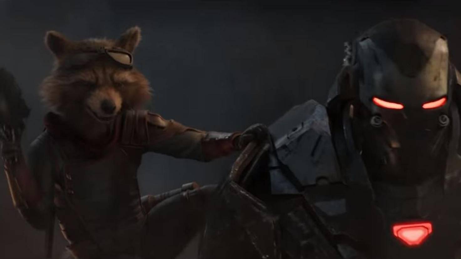 Avengers Endgame Trailer Rocket und War Machine