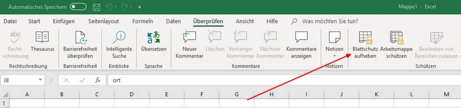 Excel-Schreibschutz