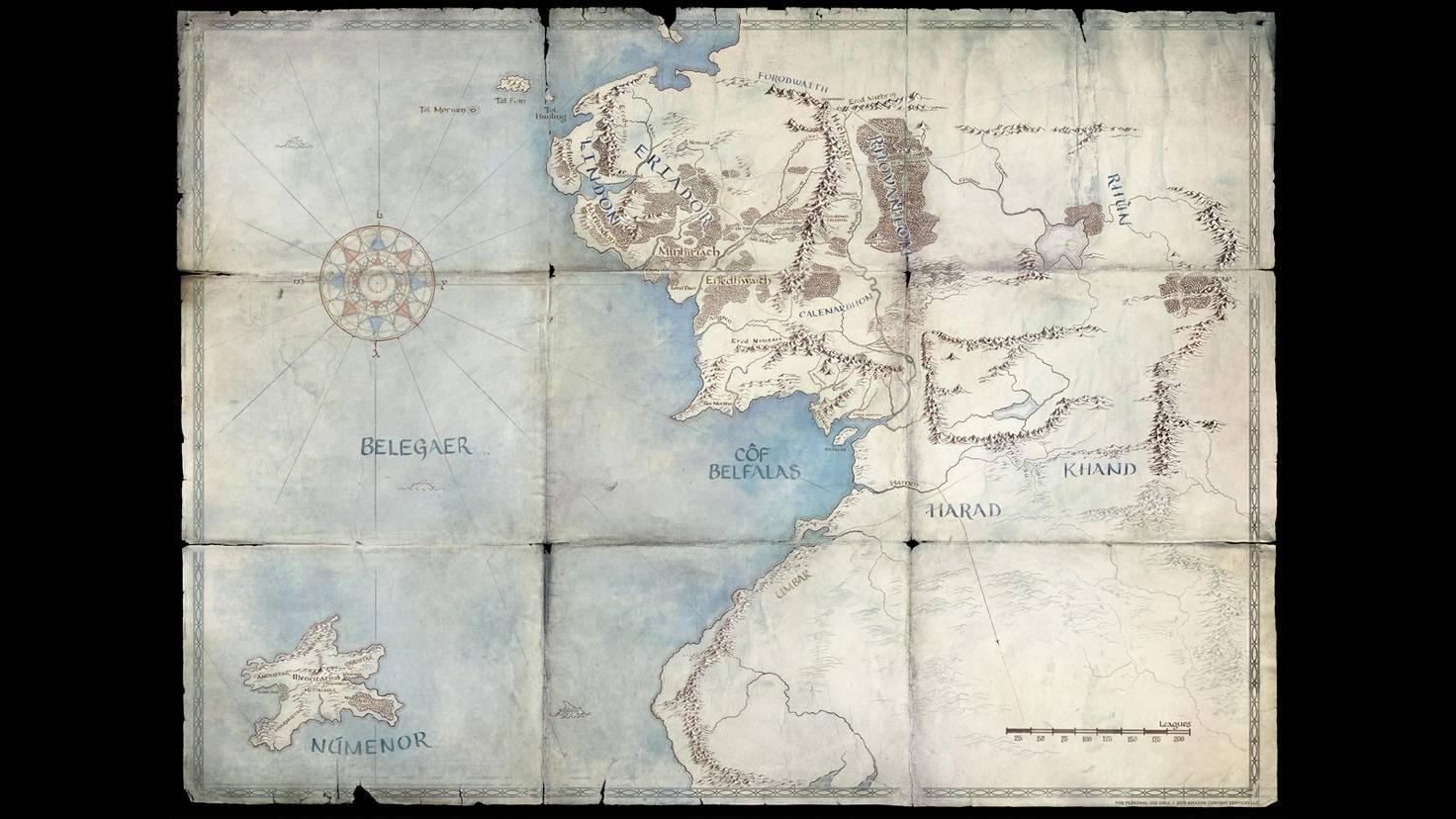 """Die """"Herr der Ringe""""-Karte hat inzwischen weitere Locations erhalten."""