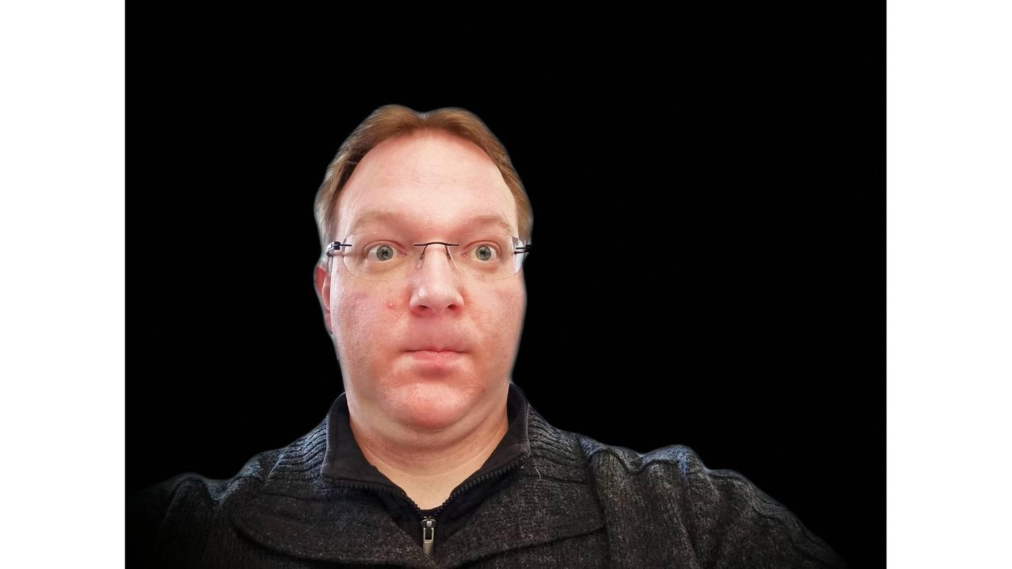 Da war ich baff: Dank 3D-Kamera wird das Motiv optimal vom Hintergrund getrennt.