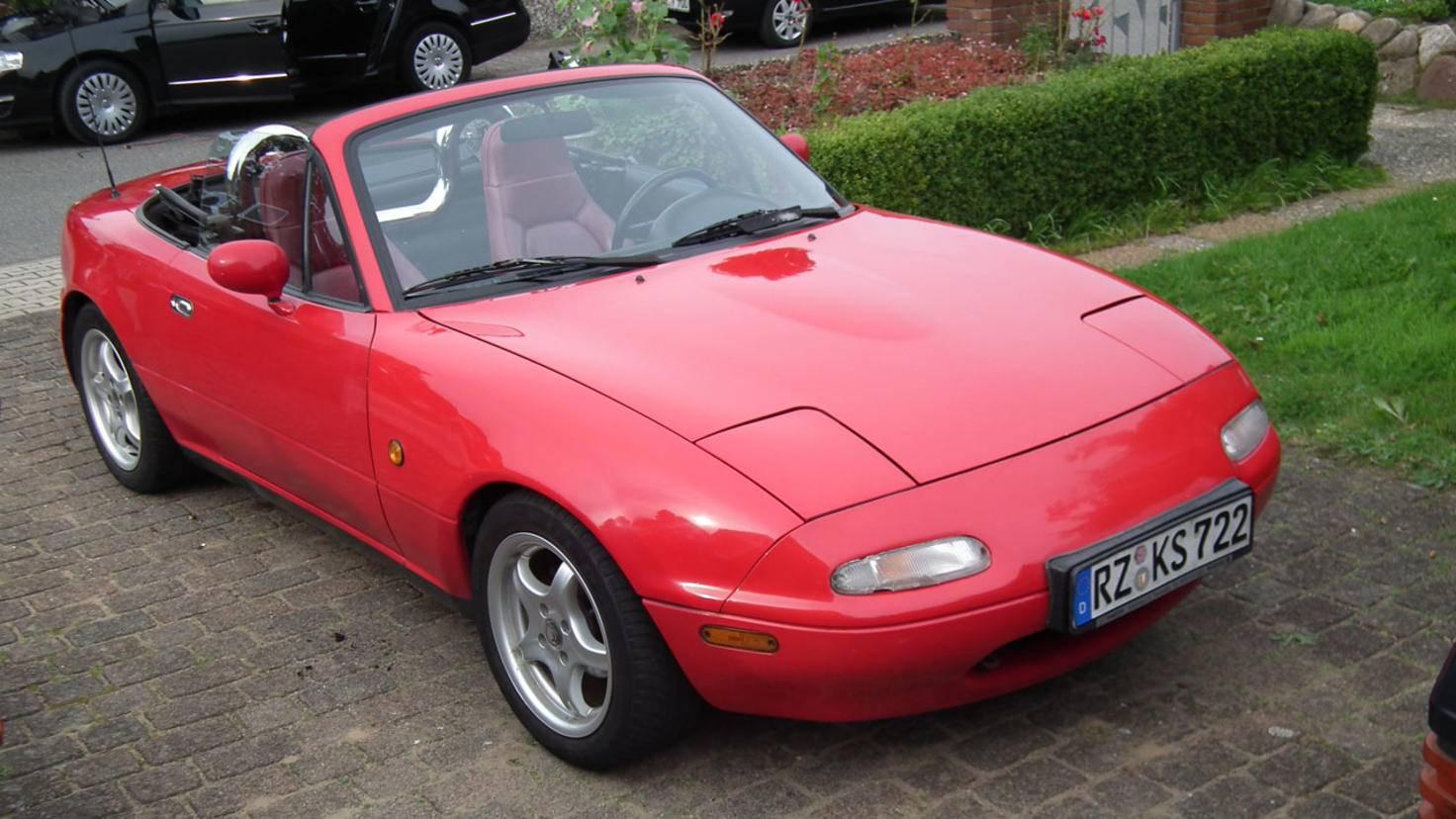 Angefangen hat meine Autoliebe mit einem Mazda MX-5 NA, ...